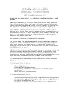 ONR Broad Agency Announcement (BAA)