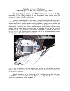 Unlocking the Secrets of the Cosmos: The First Five years of AMS on the International Space Station The Alpha Magnetic Spectrometer (AMS) Collaboration announces the fifth anniversary of the AMS Experiment on the Interna