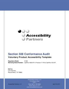Dell™ OptiPlex 9020 MTSection 508 Conformance Audit Voluntary Product Accessibility Template