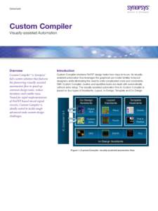 Datasheet  Custom Compiler Visually-assisted Automation  Introduction