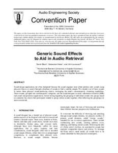 essay audio engineering