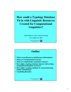 an introduction to linguistic typology pdf