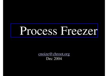 Microsoft PowerPoint - freeze.ppt