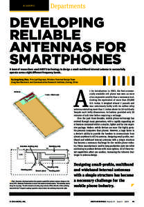 Developing Reliable Small Antennas for Smartphones