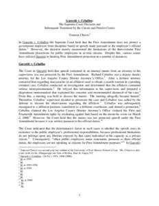 garcetti v ceballos Providing efficient public service4 last term, in garcetti v ceballos,5 the supreme court held that when public employees make statements pursuant to their duties .