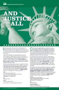 United States Department of Agriculture  AND JUSTICE FOR ALL