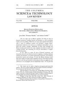 COLUM. SCI. & TECH. L. REVVol. XVI