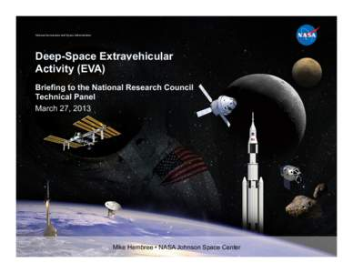 National Aeronautics and Space Administration  Deep-Space Extravehicular Activity (EVA) Briefing to the National Research Council Technical Panel