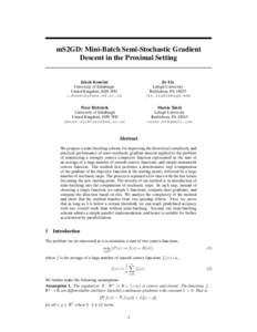 mS2GD: Mini-Batch Semi-Stochastic Gradient Descent in the Proximal