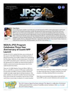 Quarterly Newsletter October-December 2014 Issue 4 N O A A
