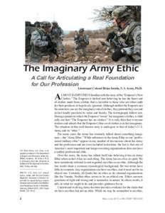 """army profession of arms essay example Trust erosion and identity corrosion: threats to the  trust erosion and identity corrosion: threats to  about our profession of arms""""2 the army's."""