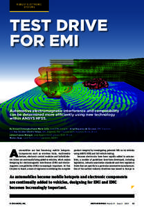 ROBUST ELECTRONIC SYSTEMS TEST DRIVE FOR EMI