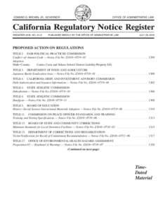 California Regulatory Notice Register 2016, Volume No. 31-Z