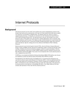 C H A P TER  30 Internet Protocols Background