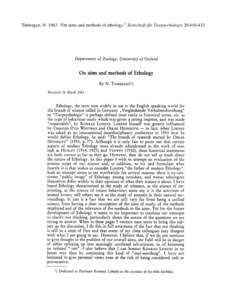 Microsoft Word - week 2 - tinbergen on aims and methods of ethology zft 1963.doc