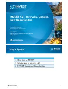 INVEST 1.2 – Overview, Updates, New Opportunities Connie (Hill ) Galloway Federal Highway Administration June 7, 2016 AASHTO SCOM Pavement Technical Working