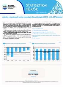 STATISZTIKAI TÜKÖRoktóber 21. Jelentés a kormányzati szektor egyenlegéről és adósságáról (2016. évi II. EDP-jelentésben a kormányzati szektor hiánya a nemzeti számlák előzetes adatai