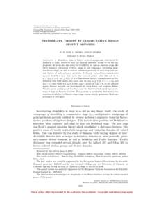 TRANSACTIONS OF THE AMERICAN MATHEMATICAL SOCIETY Volume 364, Number 8, August 2012, Pages 3967–3992 SArticle electronically published on March 22, 2012