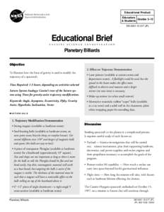 Educational Product  National Aeronautics and Space Administration  Educators