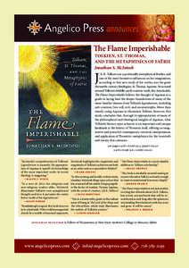 The Flame Imperishable  TOLKIEN, ST. THOMAS, AND THE METAPHYSICS OF FAËRIE Jonathan S. McIntosh