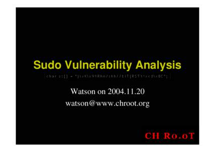 Sudo Vulnerability Analysis