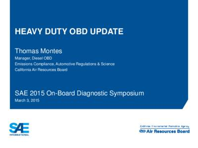 Presentation title in SAE Blue,  Arial Bold 21pt on one or two lines