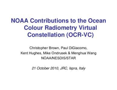 Microsoft PowerPoint - Brown_OCR-VC Workshop_NOAA Activities.ppt