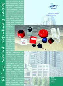 BeStar Electronics Industry Co.,Ltd.  Flash xenon beacon Audible Bells Characteristic Audible electronic Piezo Siren Manual