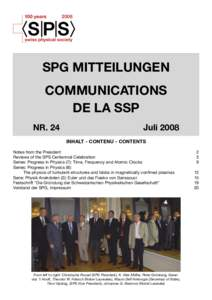 100 yearsSPG MITTEILUNGEN COMMUNICATIONS