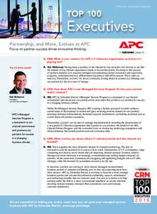 TOP 100  SPECIAL ADVERTISEMENT Executives Partnership, and More, Evolves at APC