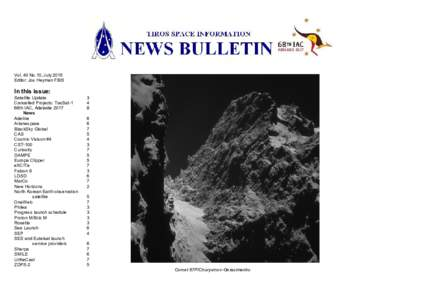 Vol. 40 No.10, July 2015 Editor: Jos Heyman FBIS In this issue: Satellite Update Cancelled Projects: TacSat-1