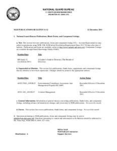 NATIONAL GUARD BUREAU 111 SOUTH GEORGE MASON DRIVE ARLINGTON VANGB PUBLICATIONS BULLETIN 11-12