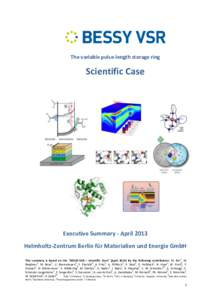 The variable pulse-length storage ring  Scientific Case NiFe  +H
