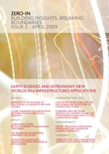 ZERO-IN BUILDING INSIGHTS, BREAKING BOUNDARIES ISSUE 2 - APRILEarth sciences and Astronomy: new