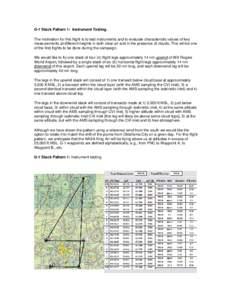 G-1 Stack Pattern 1:  Instrument Testing