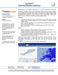 AnyChart™ Data Visualization Solutions Meteomedia AG Chooses AnyChart To Visualize Weather Forecasts Meteomedia AG