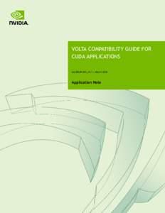 Volta Compatibility Guide for CUDA Applications