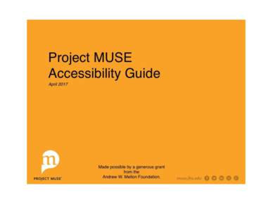 Muse Accessibility Style Guide