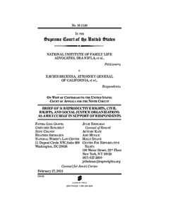 Case law / Supreme Court of the United States / Crisis pregnancy center / Planned Parenthood v. Casey / Abortion / National Institute of Family and Life Advocates / Abortion debate