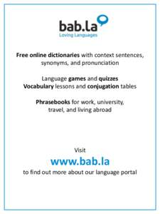 a free online dictionary with pronunciation