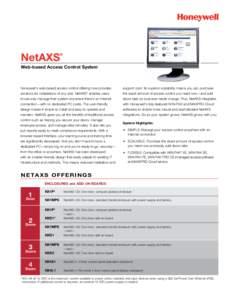 NetAXS Web-based Access Control System Data Sheet