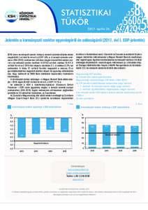 STATISZTIKAI TÜKÖR 2017. április 24. Jelentés a kormányzati szektor egyenlegéről és adósságáról (2017. évi I. EDP-jelentésban a kormányzati szektor hiánya a nemzeti számlák előzetes adatai