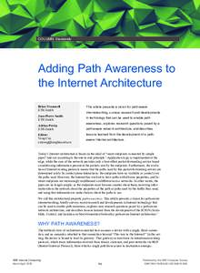 Adding Path Awareness to the Internet Architecture