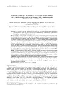ACTA ICHTHYOLOGICA ET PISCATORIA): 51–60  DOI: AIEPFISH PREDATION IN THE PROXIMITY OF PURSE SEINE FISHING LIGHTS: THE CASE OF ATHERINA BOYERI (ACTINOPTERYGII: ATHERINIFORMES: