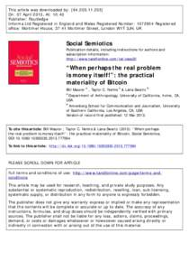 This article was downloaded by: [On: 07 April 2013, At: 10:40 Publisher: Routledge Informa Ltd Registered in England and Wales Registered Number: Registered office: Mortimer House, 37-41 Mortimer S