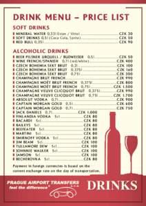 Soft Alcoholic Drinks List