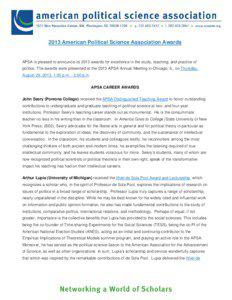 Microsoft Word[removed]Awards - APSA Website