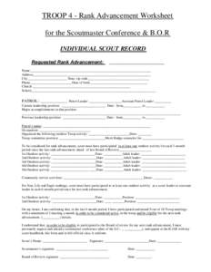 Collection Scoutmaster Conference Worksheet Photos - Studioxcess