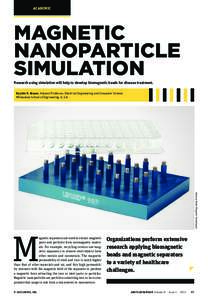 ACADEMIC  MAGNETIC NANOPARTICLE SIMULATION Research using simulation will help to develop biomagnetic beads for disease treatment.