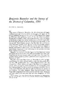 Benjamin Banneker and the Survey of the District of Columbia, 1791